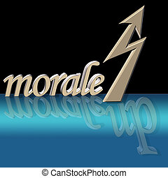 improved morale - 3D morale showing an upward trend with...