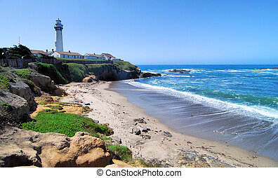 Pigeon Point Lighthouse south of San Francisco, California...