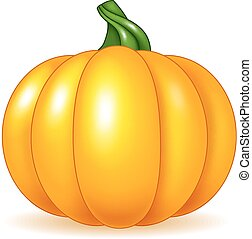 Cartoon pumpkin isolated - Vector illustration of Cartoon...