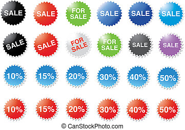 Candy price stickers