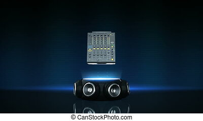 dj controller with speakers 3D