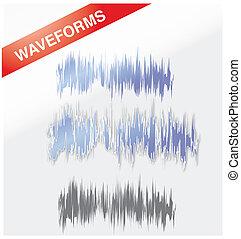 Waveforms - A set of modern designed waveforms