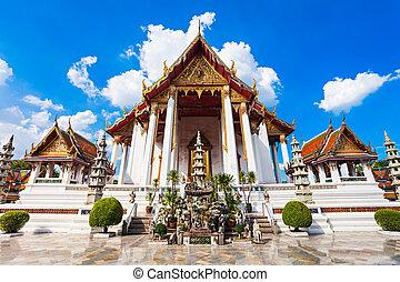 Wat Suthat Temple - Wat Suthat Thep Wararam is a Buddhist...