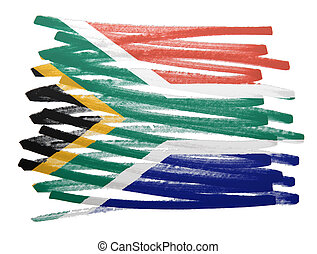 Flag illustration - South Africa - Flag illustration made...