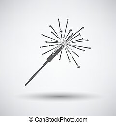 Party Sparkler Icon - Party sparkler icon on gray background...