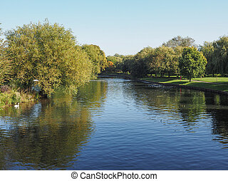 River Avon in Stratford upon Avon, UK