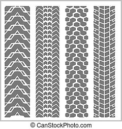 Car tire tracks