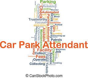 Car park attendant background concept - Background concept...