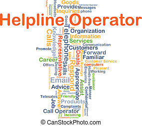 Helpline operator background concept - Background concept...