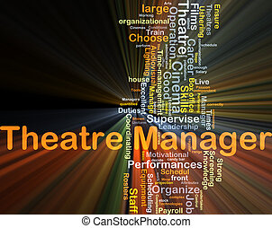 Theatre manager background concept glowing - Background...