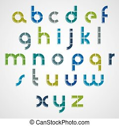 Colorful dotted line bold font with rounded lower case...