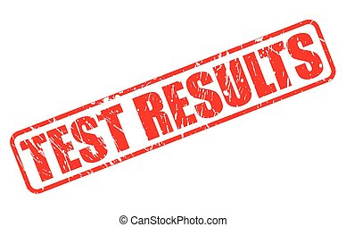 TEST RESULTS red stamp text on white