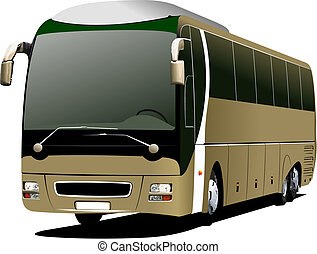 Tourist coach Vector illustration