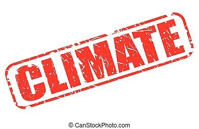 CLIMATE red stamp text on white