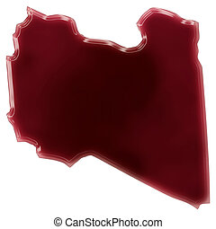 A pool of blood (or wine) that formed the shape of Libya....