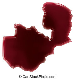 A pool of blood or wine that formed the shape of Zambia...