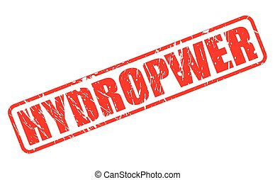 HYDROPWER red stamp text on white