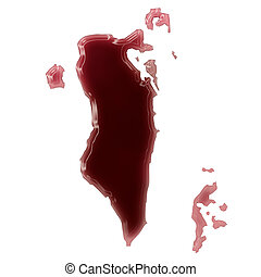 A pool of blood (or wine) that formed the shape of Bahrain....