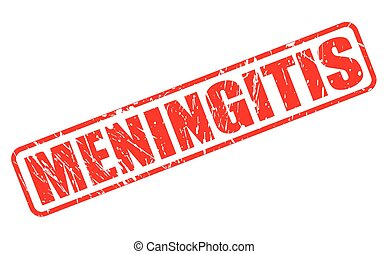 MENINGITIS red stamp text on white