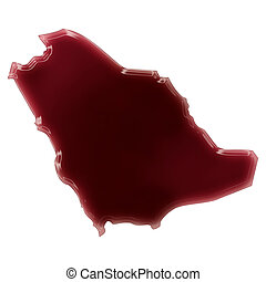 A pool of blood (or wine) that formed the shape of Saudi...