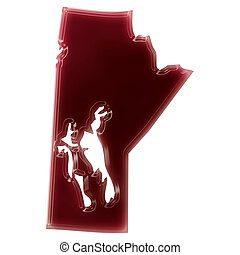 A pool of blood or wine that formed the shape of Manitoba...