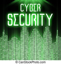Cyber security with matrix binary code technology background