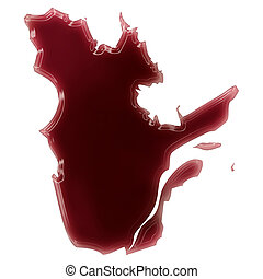 A pool of blood (or wine) that formed the shape of Quebec....