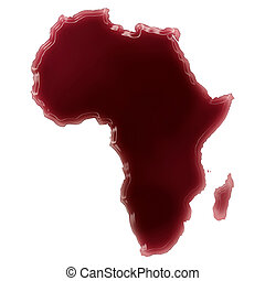 A pool of blood (or wine) that formed the shape of Africa....