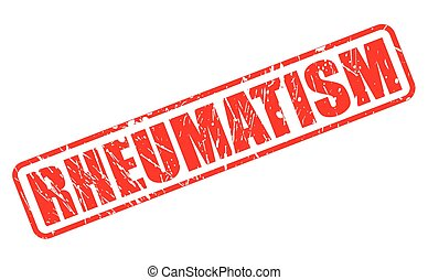 RHEUMATISM red stamp text on white