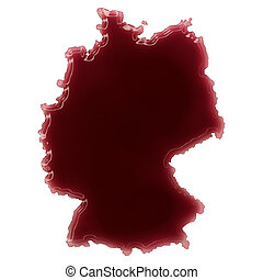 A pool of blood (or wine) that formed the shape of Germany....