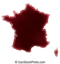 A pool of blood (or wine) that formed the shape of France....