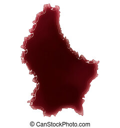 A pool of blood (or wine) that formed the shape of...