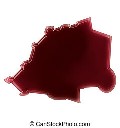 A pool of blood (or wine) that formed the shape of Vatican...
