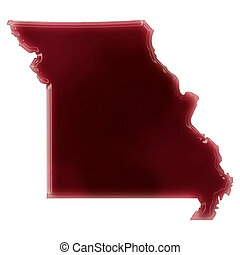 A pool of blood (or wine) that formed the shape of Missouri....