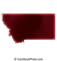 A pool of blood or wine that formed the shape of Montana...