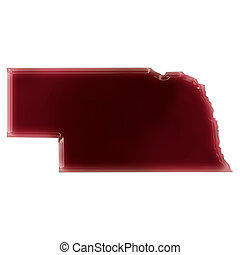 A pool of blood (or wine) that formed the shape of Nebraska....