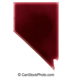 A pool of blood or wine that formed the shape of Nevada...