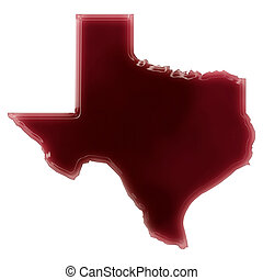 A pool of blood (or wine) that formed the shape of Texas....