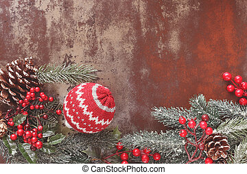 Christmas vintage background with Christmas decorations...
