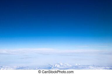 blue sky - clouds in the blue sky