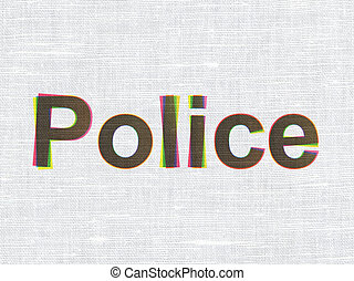 Law concept: Police on fabric texture background