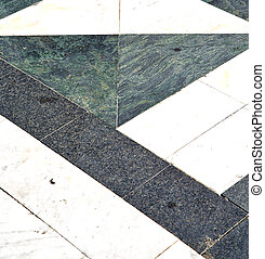 busto arsizio street lombardy abstract pavement curch -...