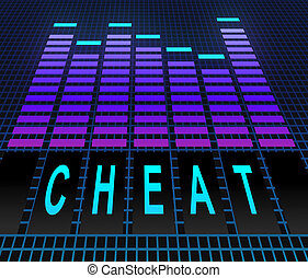Cheat concept - Illustration depicting graphic equalizer...