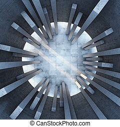 Architectural design of the building. Top view.