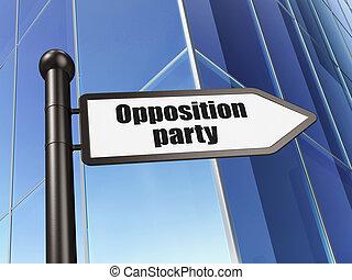 edificio, Plano de fondo, señal, oposición, política, fiesta,  concept: