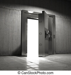 Open door to vault