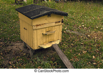 Bee hive in autumn.