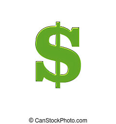 Green Big Bucks - 2d large money sign done in green