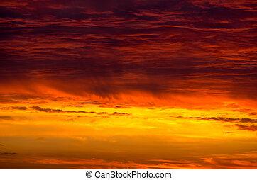 Sonnenuntergang, himmelsgewölbe