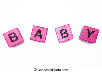 Baby - The baby inscription on the white background